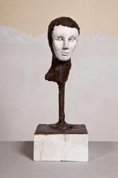 Untitled 2011 argile sèche cire 46x15x15 cm